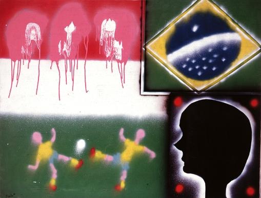 José Roberto Aguilar, Futebol III, 1966, spray sobre tela, 114 x 146, mac,usp