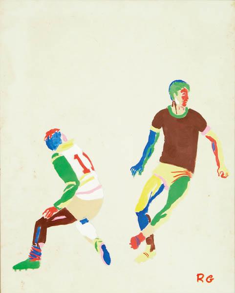 Rubens Gerchman (1942-2008) 2 -Jogo de Futebol - Guache - 43x35