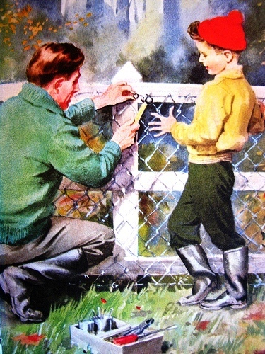 ajudando a consertar a cerca