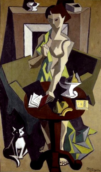 Jean Metzinger (1883-1956)la robe verte