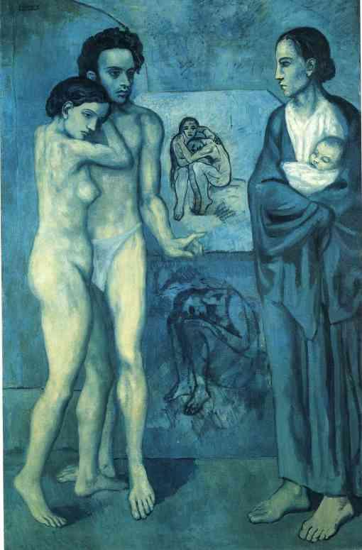 Pablo Picasso, A vida, 1903, Cleveland Museum