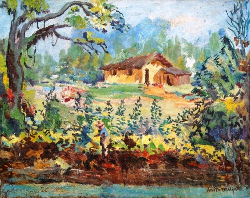 Anita Malfatti, Paisagem, ost, 1950s, 40x50