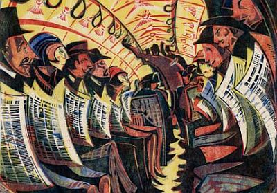Cyril Edward Power, (1872-1951)Tube, 1934, linocut,