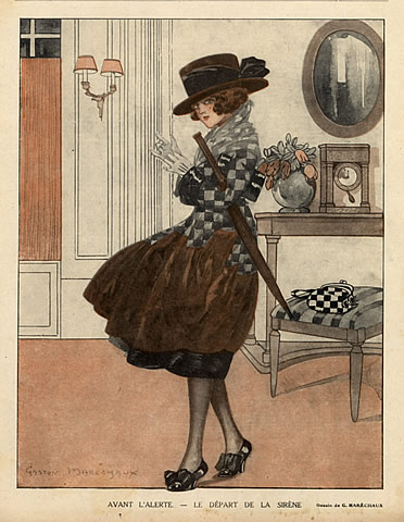 Inverno, gaston-marechaux-1918-the-departure-elegant-hprints-com