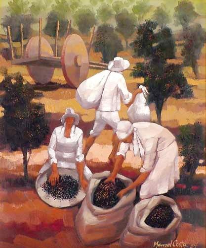 Manoel Costa,Colheita de café,1984,ose, 55 x 46 cm