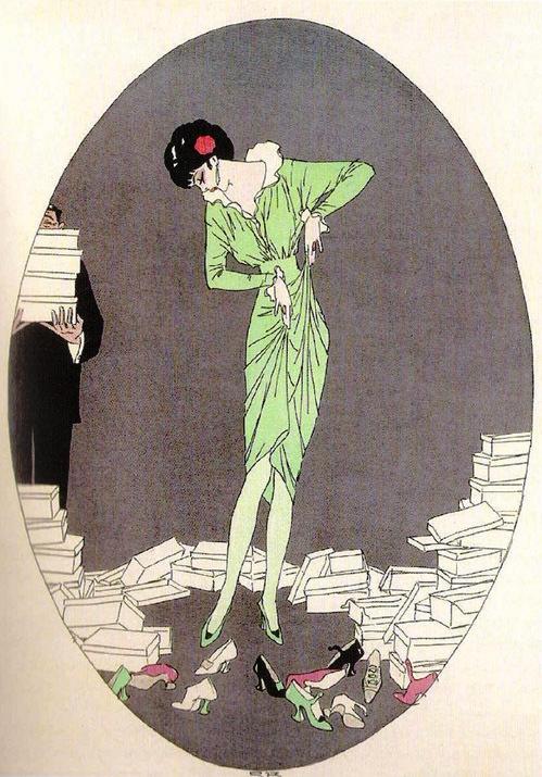 Sapatos Ilustração 1914, revista dinamarca