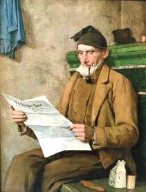 Albert Anker (1831-1910) Suíça  Vovô Lendo