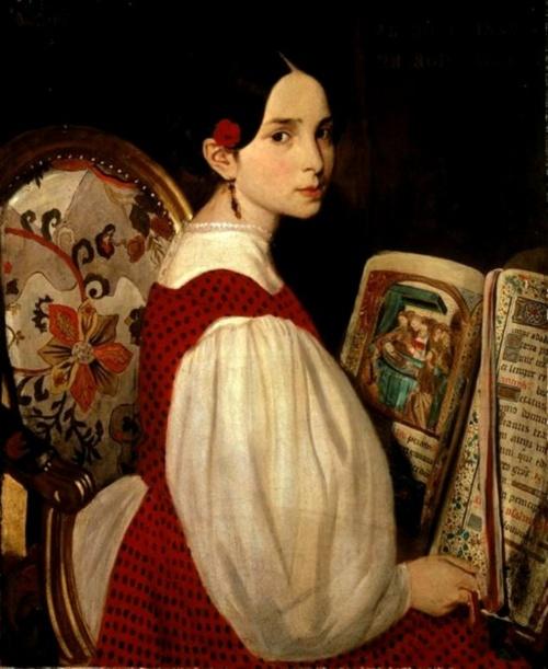 Auguste de Chatillon, Auguste de Chatillon ( França 1808-1881) Leopoldina com o livro das horas