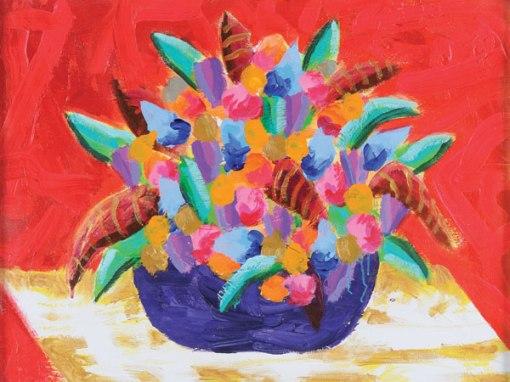 AUGUSTO HERKENNHOFF,Vaso de Flores,ost,60 x 80 cm