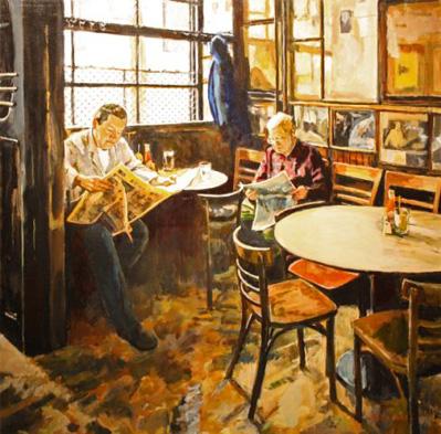 Carol Monacelli - Morning News Painting