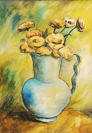 clovis Graciano (1907-1988) Vasodeflores, 1940,oscce,38x26