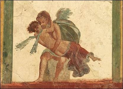 Cupid and Psyche (1st century, painting, Pompeii)