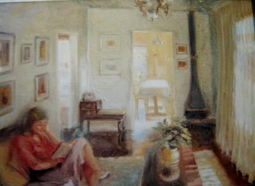 Erico Santos (Brasil) Sala de Estar, 1988, ost, 40x 50 cm, wwwericosantos.com