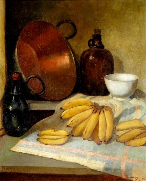 Georgina de Albuquerque, Composição com bananas - OST - 70x60 - 1959