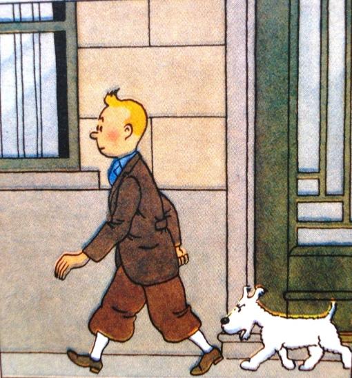 homem e cachorro, hergé