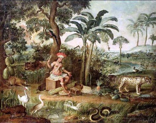 josé teófilo de jesus , (Brasil, 1757-1847)indio com animais,