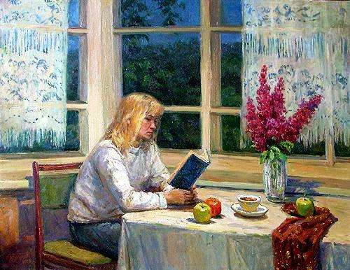 Stanislav Brusilov (Rússia,  1976)  Mulher lendo, 2002