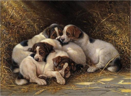 valentine-thomas-garland-puppies-in-a-haystack_thumb
