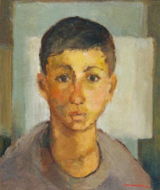 ALICE BRUEGGMANN,Cabeça de Menino, 1955,ost,53 x 44 cmMseuufrgs