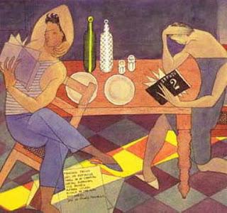 almada negreiros (Portugal)Almada Negreiros lendo Orpheu 2, colecção privada, Lisboa