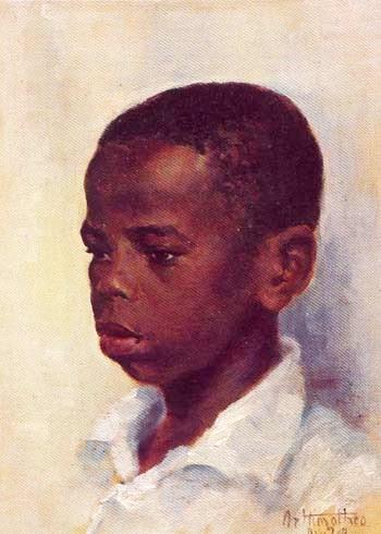 Artur Timoteo da Costa, Retrato de menino oscartão 41x32 colpart