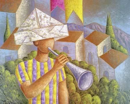 Ferracioli - Tocando Corneta,ost, 2001, 80x100 cm