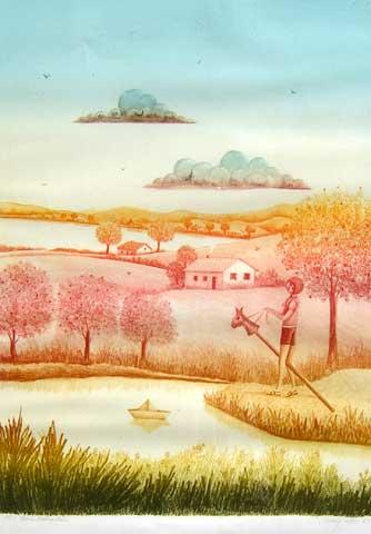 Henry Vitor, Bambalão, 1983, serigrafia, 70x48