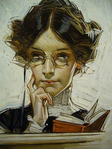 jovem lendo Joseph Christian Leyendecker