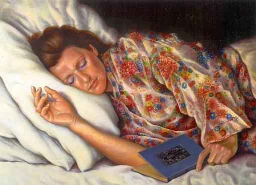 Kik Zeiler (Holanda, 1948) in slaap gevallen, 1989, ost,44 x61cm