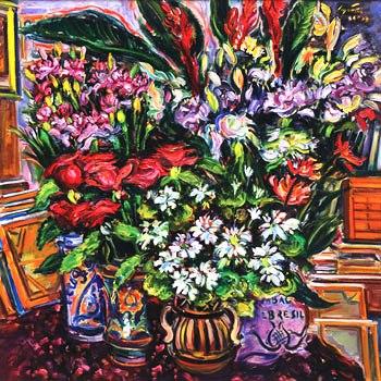 Sergio Telles (1936) Canto do Atelier, 2009,ost, 100x100
