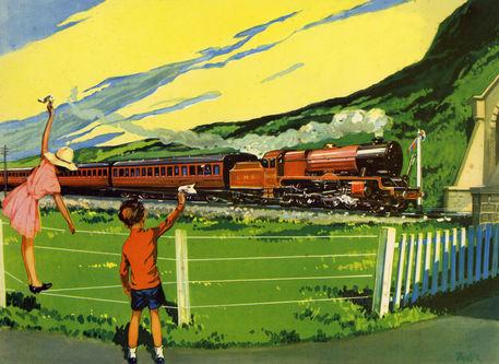 trem passando pela fazenda
