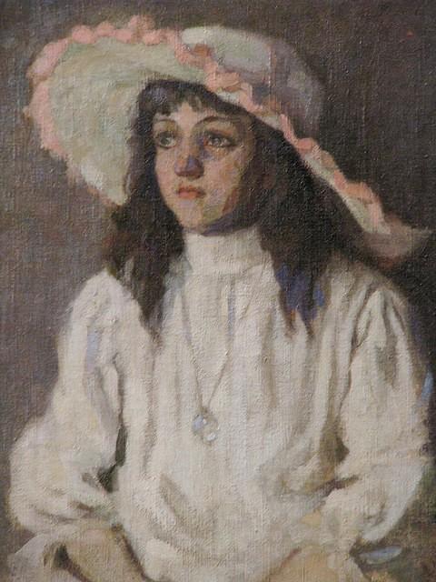 TulioMugnaini,(Brasil, 1895-1975) Menina de Chapéu,óleo sobre tela, 64 x 47 cm 1916, PESP