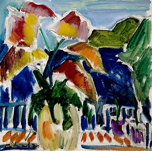 Antonio Helio Cabral, Flores e Paisagem,ost, 30 x 30 cm