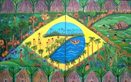 Berenic [ Berenice Barreto Fernandes]  (Brasil, Ceará,) Brasilindio, 2000, ast, 50 x80