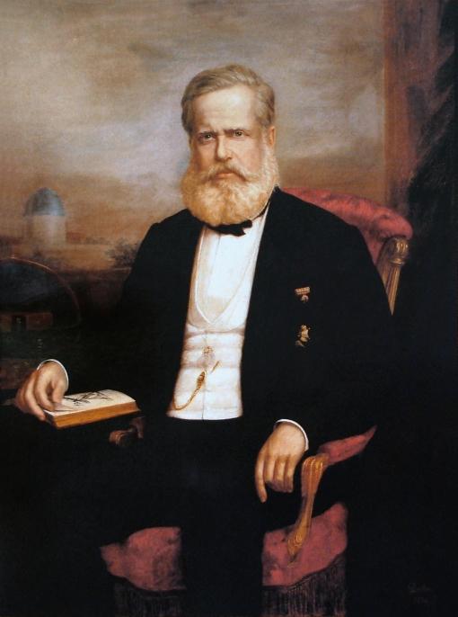 Delfim da Câmara (1834–1916)Retrato de D. Pedro II, 1875, ost, 127 × 95 cm, Museu Histórico Nacional (MHN)Rio de Janeiro