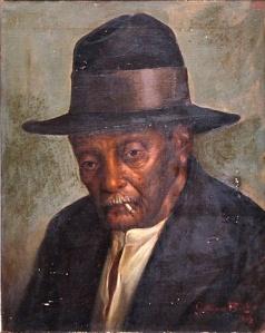 GUTMAN BICHO - Preto velho - dat.1919 - ost - 50 x 40