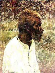 Henrique bernardelli, retrato de negro 23 x 18 pesp