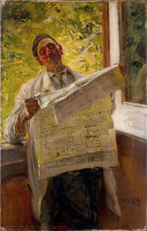 Jose Malhoa, homem lendo