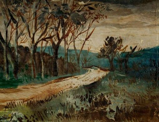 ABELARDO ZALUAR - (1924 - 1987)Paisagem - óleo sobre madeira - 12 x 16 cm - 1951
