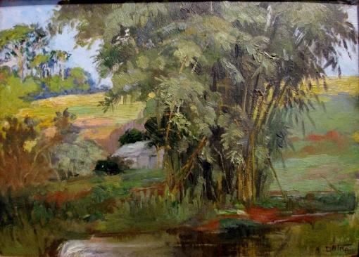 ALÍPIO DUTRA - Touceiras de bambu - Óleo sobre tela - Pinacoteca do Estado de São Paulo