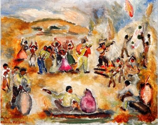 ANITA MALFATTI (1889 - 1964),O Samba, 1940,ost, 39x49cm
