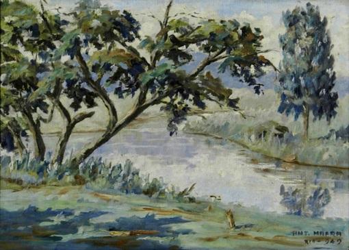 Antonio Mafra, Paisagem Rio-Petrópolis, 1949, ost,33x46cm