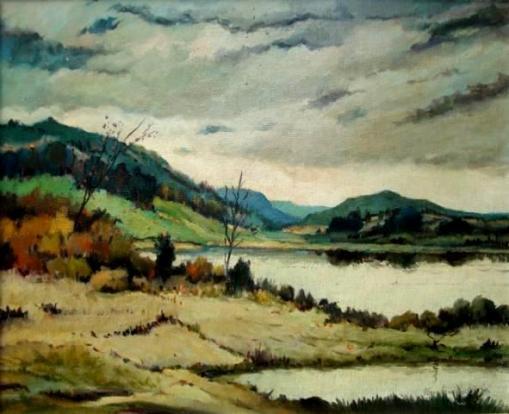 Bustamante Sá (1907-1988)Paisagem do Rio (1966)Óleo sobre tela, 38 x 46 cm