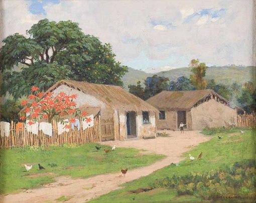 Clodomiro Amazonas,Paisagem rural, Óleo sobre tela, 1931, 29,5 x 36,5 cm