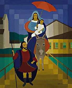 DJANIRA DA MOTTA E SILVA (1914-1979) Fuga para o Egito, 1967, ost, 100x81