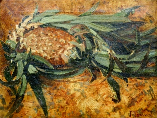 FRANCISCO MANNA (1879 - 1943) Abacaxi, o.s.t. - 32 x43