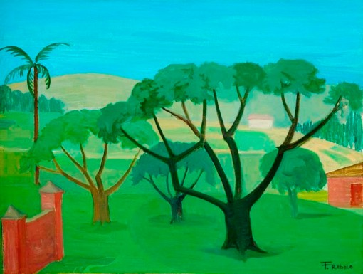 francisco rebolo, paisagem, 1976,osm, 47x61, col part