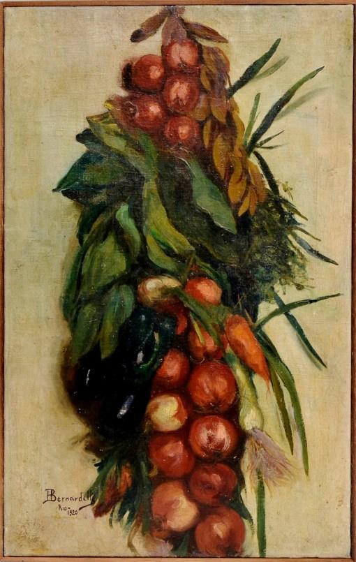 HENRIQUE BERNADELLI - Natureza Morta OST, 1920, 65x45 cm.