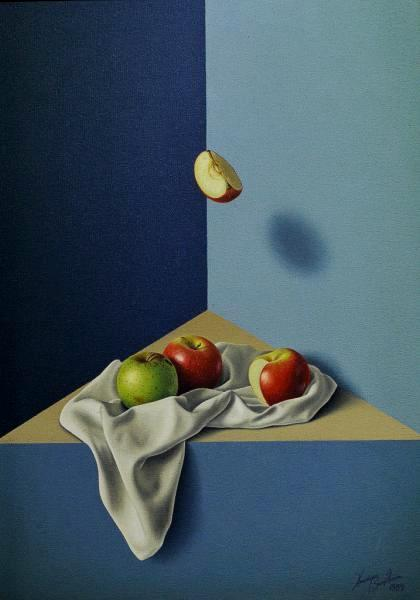 HENRIQUE SANT'ANNA (1958)Maças VI, o.s.t. - 70 x50 cm. Ass. e dat. 89