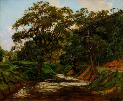 João Baptista da Costa,(1865-1926) Rio Piabanha,Petrópolis, ost, 55x66